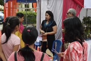 Volunteers being briefed about their duties