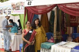 Senior entrepreneur Jayasree Chakraborty with her friend