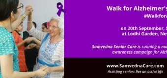 Samvedna Care Presents Walk for Alzheimer's 2015