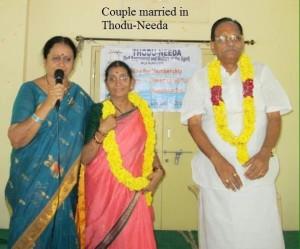 The Kakarla couple at their wedding