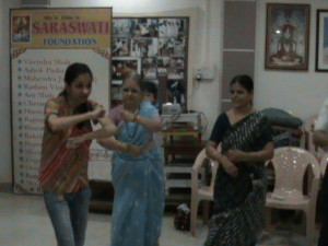 A dance therapy session