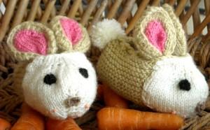 Rabbit booties for newborns