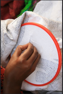 Stitch of empowerment. Weaving a Kantha. Pic courtesy: Street Survivor's India