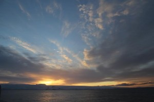 An Antarctic sunrise