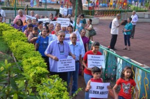 A Walkathon in Mumbai to spread awareness about Elder Abuse Photograph courtesy: Silver Innings Foundation