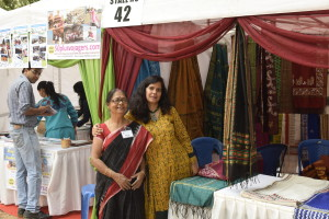 Senior entrepreneur Jayasree Chakraborty with her friend