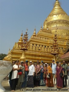 The members on a holiday to Myanmar