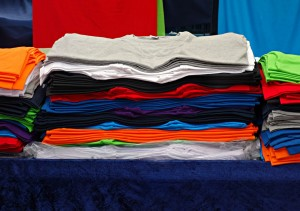 Selecting colours from a clothes pile. Image: Pixabay