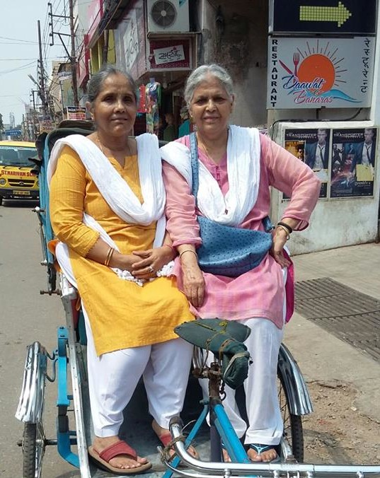 Asha and Aruna Grannies of Grannys Inn, Varanasi. Do they look anywhere close to retiring? Photo courtesy: https://www.facebook.com/grannysinn