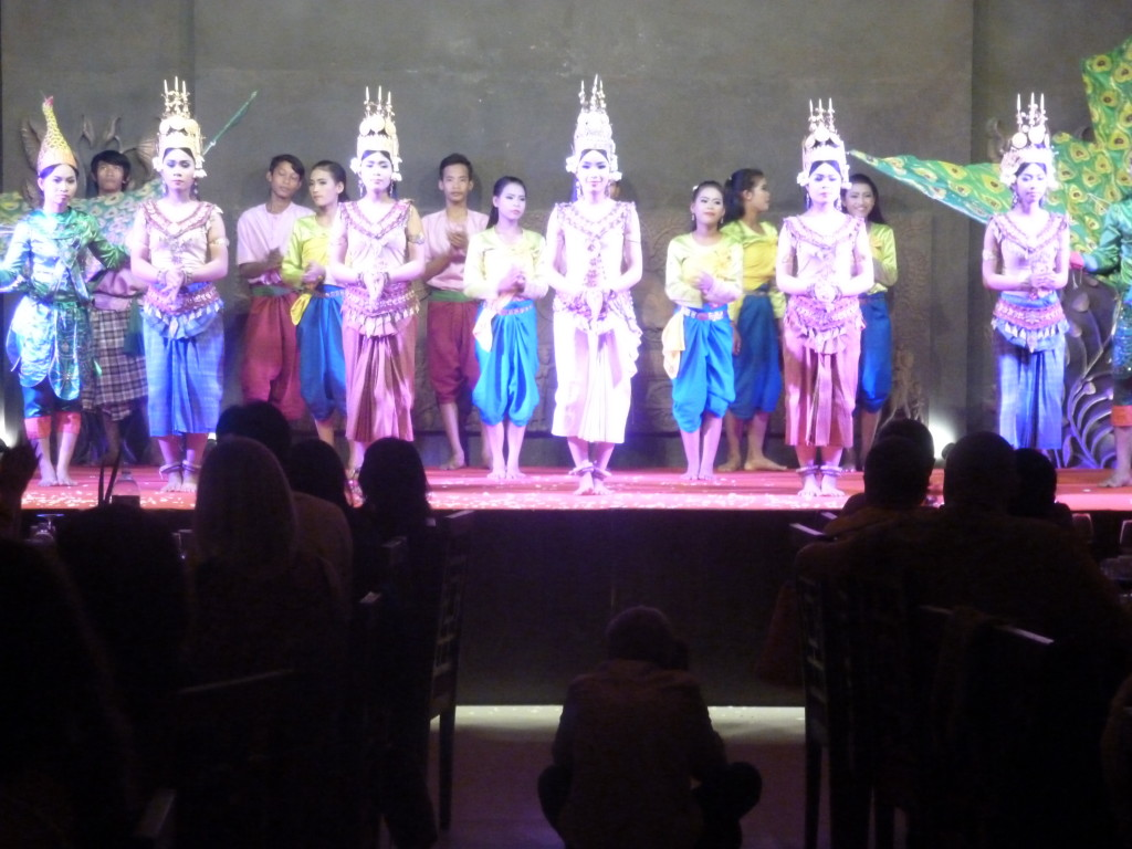 The captivating Apsara dance; Photograph: Brig Suryanarayanan