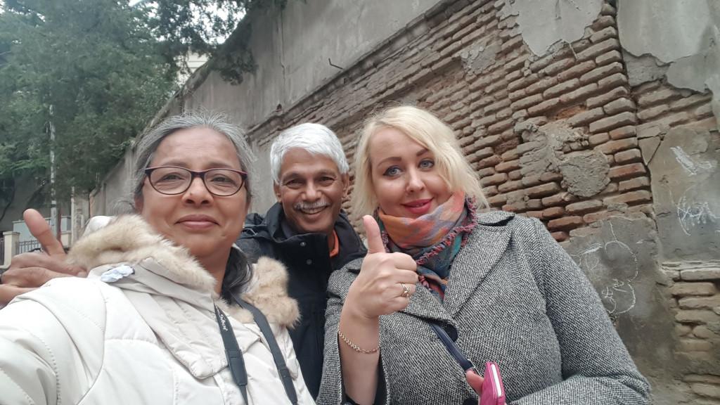 An Ukranian lady they met in Georgia