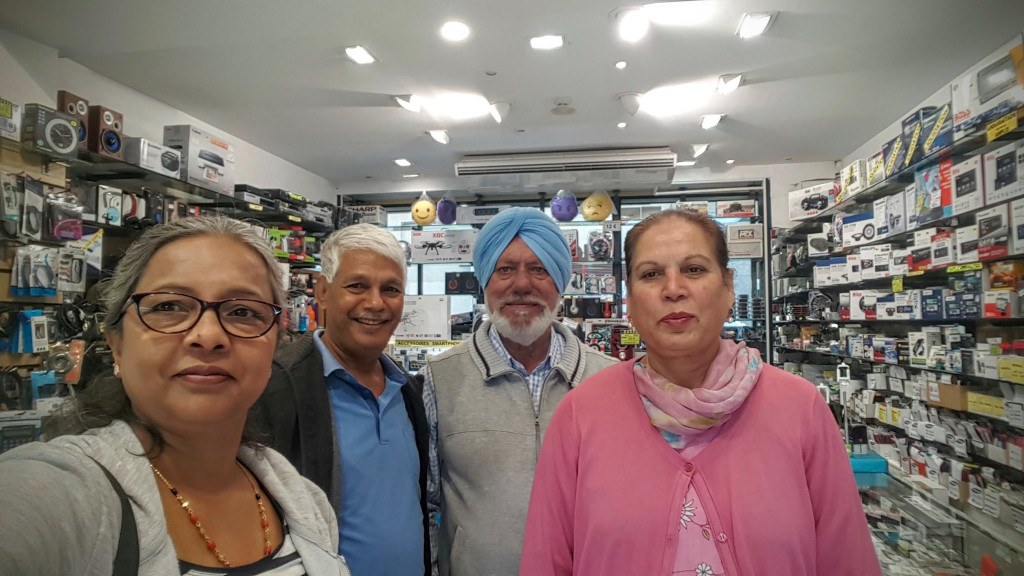 The D'souzas with the only Sardar couple in Andorra