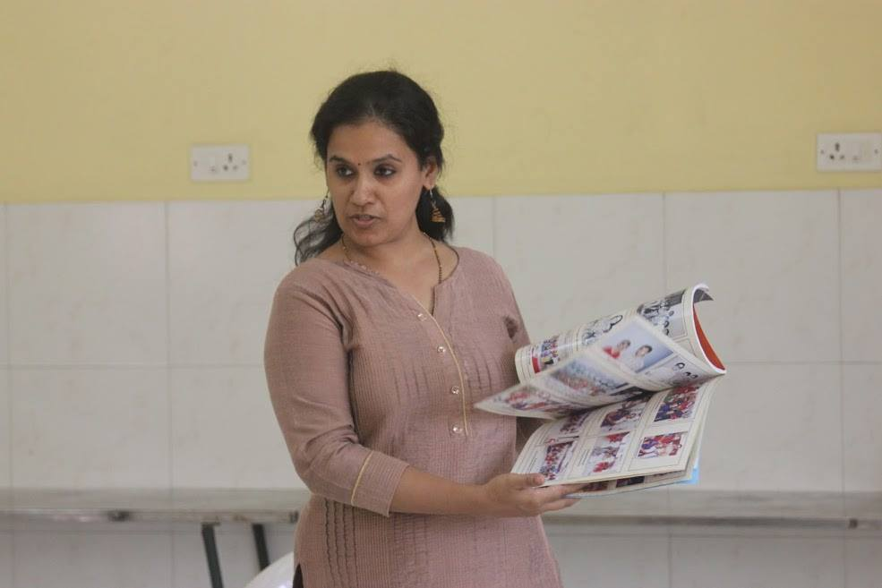 Lavanya Prasad shows the family book of stories, created to preserve memories of her ancestors for the generations to come
