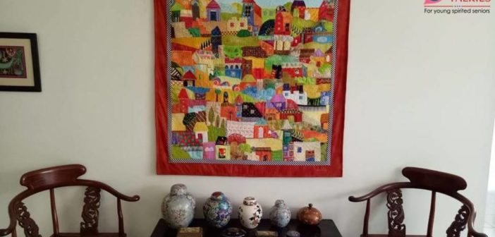 SILVER TALKIES EVENTS: VISIT TO TEXTILE ARTIST, LEELA CHERIAN'S ARTISTIC ABODE