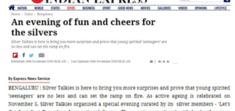 New Indian Express Covers Silver Talkies' Grand Celebration of Active Ageing of Seniors